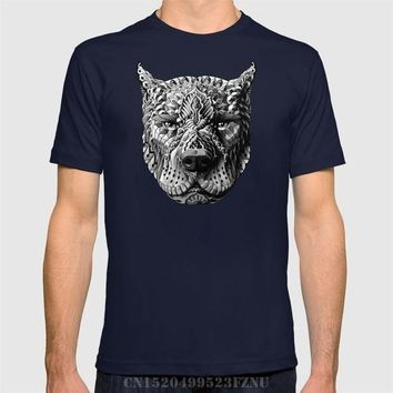 Patterned Pitbull Face T-shirt - Dog Lover Tee