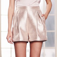 LC Lauren Conrad Runway Collection Pleated Metallic Dress Shorts - Women's