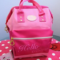 New Cute Hello Kitty Canvas Backpack Bag School Bag Purse yey-1274