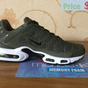 2018 Newest Nike Air Max TN 2018 Moss Green White Black sneaker