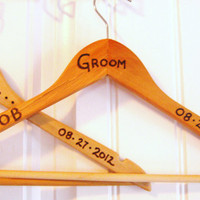 Rustic Wedding Hanger Custom made for Bride and by KnottyNotions