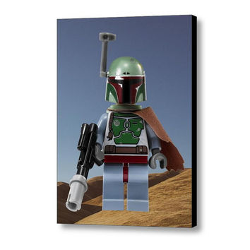 Hi-Res Star Wars Boba Fett Lego Mini Fig Art Print
