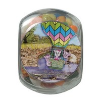 Three Little Pigs Jelly Belly Glass Jar