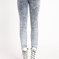 OMBRE ACID WASH SKINNY JEANS