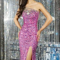 Embellished One Shoulder Gown by Alyce Prom