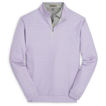 Perth Stretch Loop Terry Glen Plaid Quarter-Zip
