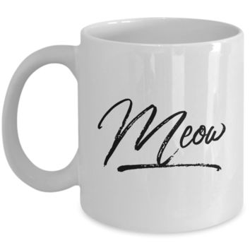 Meow Cat Coffee Mug Ceramic Coffee Cup