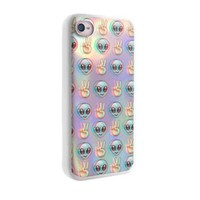 Alien Emoji Peace Background for Iphone Case and Samsung Galaxy Case (iphone 5c white)