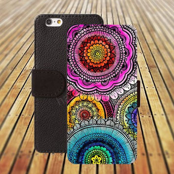 iphone 5 5s case cartoon Classic pattern flowers colorful iphone 4/ 4s iPhone 6 6 Plus iphone 5C Wallet Case,iPhone 5 Case,Cover,Cases colorful pattern L167