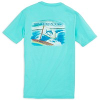 Coastal Watercolor Tee Shirt in Crystal Blue by Southern Tide