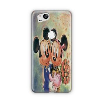 Vintage Mickey Mouse And Minnie Mouse Google Pixel 3 XL Case | Casefantasy
