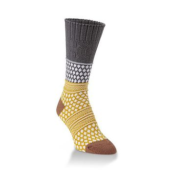 World's Softest Socks - Gallery Textured Crew - Quiet Shade