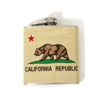 California Republic Bear Flag Flask