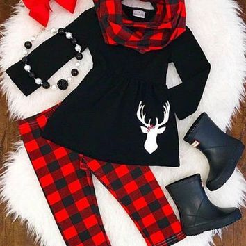 Cozy Dreams Buffalo Plaid 3 Piece Set