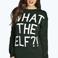 Judy What The Elf?! Christmas Sweater