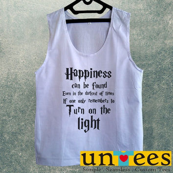 Men's Basic Tank Top - Harry Potter Quotes Happiness Can be Found Even in The Darkest of Times If One Remembers Design