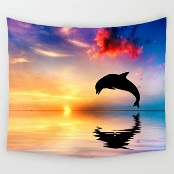 Beach Towel & Tapestry // THE DOLPHIN