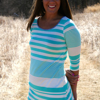 Asymmetrical Stripe Tunic