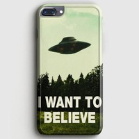 I Want To Believe Ufo Aliens iPhone 8 Plus Case