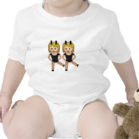 Woman With Bunny Ears Emoji Romper