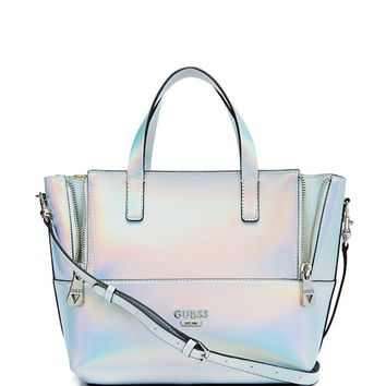 Doheny Metallic Satchel | GUESS.ca