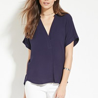 Contemporary Split-Neck Top | Forever 21 - 2000150217