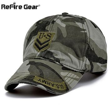 Trendy Winter Jacket ReFire Gear Fashion Militar Style Men Camouflage Baseball Cap US Army Tactical Snapback Hat Women Casual Summer Cotton Camo Caps AT_92_12