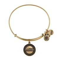 Alex and Ani Alpha Omicron Pi Charm Bangle - Russian Gold