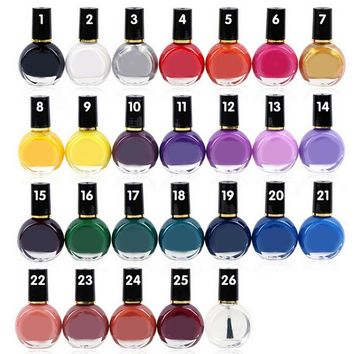26 Color 10ml Nail Art Stamp Stamping Transfer Polish Acrylic Gel Varnish French Tip Painting Printing Desgin Image Manicure Oil