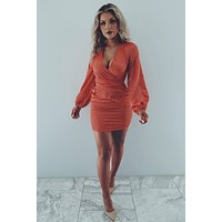 The Finer Things Dress: Rust/Gold