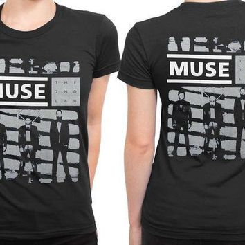 MDIG1GW Muse The Second Law Fan Art 2 Sided Womens T Shirt