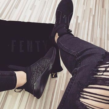 spbest PUMA Fenty Trainer - Rihanna Collection Blackout