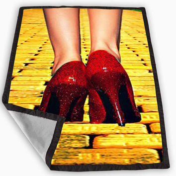 Yellow Brick Road Dorothy Wizard of Oz Inspired Blanket for Kids Blanket, Fleece Blanket Cute and Awesome Blanket for your bedding, Blanket fleece *