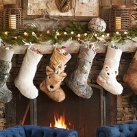 Faux Fur Stocking Collection | Pottery Barn Kids