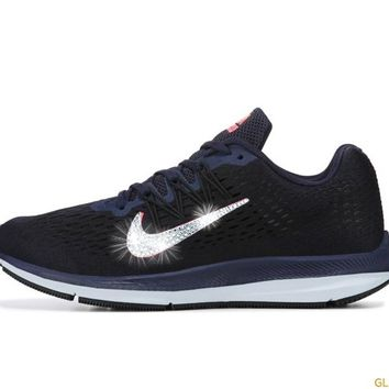 Nike Zoom Winflo 5 + Crystals - Blackened Blue/Flash