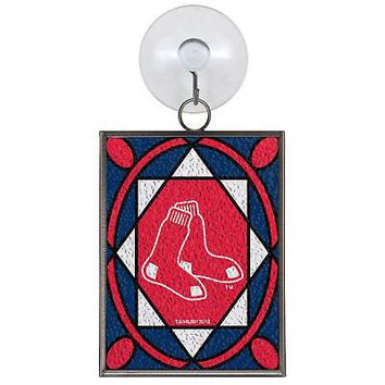 BOSTON RED SOX STAINED GLASS SUN CATCHER/ORNAMENT NEW & OFFICIALLY LICENSED