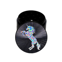 """Unicorn Dreams"" Holographic Herb Grinder Black"
