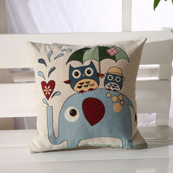 Cartoon Handmade Owl Home Decor Pillow Decorative Throw Pillows Cute Drawing 13