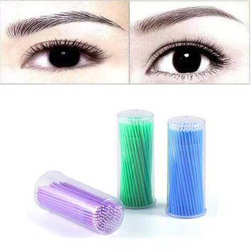 ESBON Hot 100Pc/ Bottle Microblading Micro Brushes Swab Lint Free Tattoo Permanent Supplies Oct 28