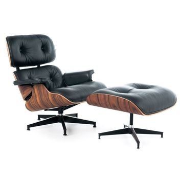 Lounge Chair + Ottoman - Reproduction