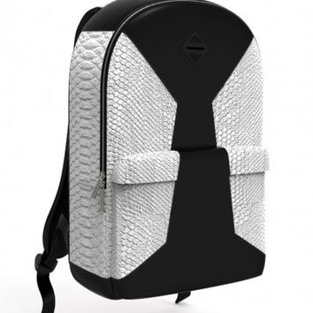 Cut & Sew White Faux Crocodile Backpack | Sprayground Backpacks, Bags, and Accessories