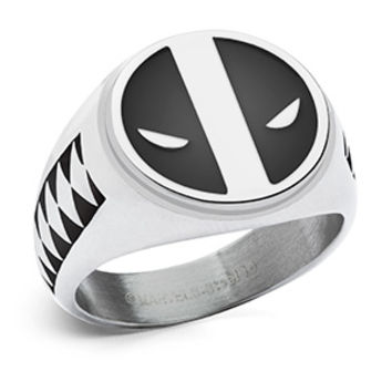 Deadpool Symbol and Katana Ring