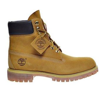 Timberland Rhubarb boots for men and women shoes waterproof Martin boots lovers Yellow I