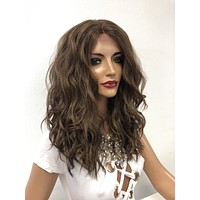 """Brown Blond Balayage Ombre Lace Front Wig 14"""" Pearl 1218"""
