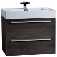 Single Bathroom Vanity Set, Gray Oak - Contemporary - Bathroom Vanities And Sink Consoles - by ConceptBaths