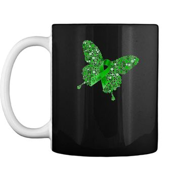 Mental Health Awareness Butterfly Ribbon Hope Love  Mug
