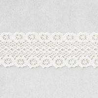 AEO Wide Cream Crochet Choker Necklace , Cream
