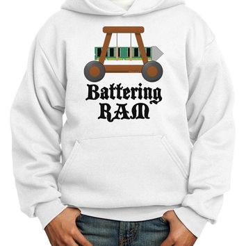 Battering RAM Text Youth Hoodie Pullover Sweatshirt