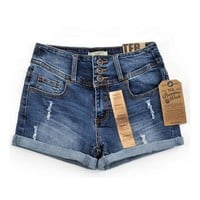 Thin Beaded Three-dimensional Hole High Waist Shorts Denim Shorts for Women Loose Plus Jeans Short