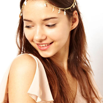 Multi- leaf pendant tassel hair bands
